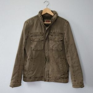 Levi's Army Green Zip (Flaw) Lined Jacket Utility
